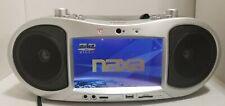 NAXA NX-252 7-Inch TFT LCD Portable DVD Player AM/FM Stereo Radio BOOMBOX TESTED