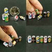 Mini Beer Bottle Cans DIY Miniature Dollhouse Model Beach Game Food Toy X1B6