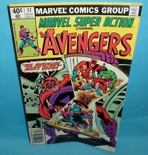 Marvel Super Action #17 Comic Reprinting Avengers Annual 2 Very Good Condition