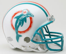 MIAMI DOLPHINS NFL Riddell VSR-4 ProLine THROWBACK Mini Football Helmet