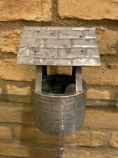 Pottery Barn GALVANIZED VILLAGE WELL Accessory For Galvanized Village Houses New