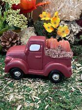 Dollhouse Fairy Garden Accessories Fall Harvest Pumpkin Truck with Hay Htf