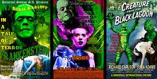 Classic Monster Lot Frankenstein Bride of Frankenstein Creature 3 Sale Posters