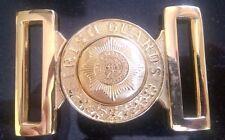 Irish Guards Buff Belt Solid Brass Buckle. New