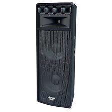 """PYLE Pro 1600 Watt Double 12"""" Subwoofers Tweeters Heavy Duty PA Speaker System"""