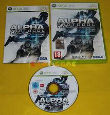 ALPHA PROTOCOL XBOX 360 Versione Ufficiale Italiana 1ª Edizione ••••• COMPLETO
