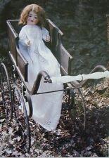 Baptême Robe Doll Clothes sewing pattern Antique style Vintage 60 cm