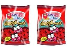 2x King Regal Golosinas Discos Fresa 100g