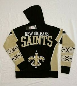 NEW ORLEANS SAINTS NFL Sweater Ugly Christmas Hoodie, YOUTH XL, CH 18 -NWT