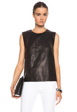 BLK DNM Women's Black Leather Shirt 23 Medium $595 NWOT