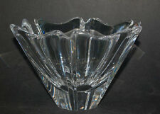 Orrefors Orion Crystal Bowl Lars Hellsten designer Sweden Signed Clear Glass