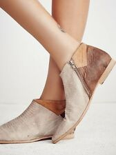 Free People Boots 39 Desert Rider Ankle Boot Point Toe Color Block NEW NWOB $198