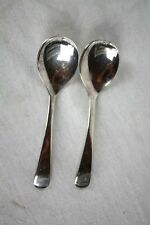Vintage Silverplate Sheffield England 2 Jelly Spoons Smooth Shiny Finish