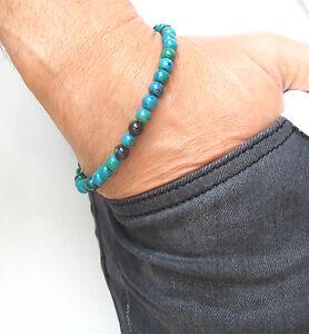 green eilat gemstone beads 925 sterling silver bracelet bead men bangle women
