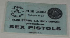 Reproduction Sex Pistols at Zebra Club in Kristinehamn Sweden July 18, 1977