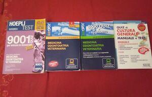 Libri test d'ingresso Medicina Odontoiatria Veterinaria Farmacia QUIZ + cultura
