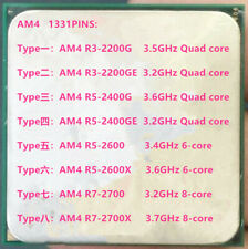 AMD AM4 R3-2200G 2200GE R5-2400G 2400GE R5-2600 R5-2600X R7-2700 R7-2700X  CPU