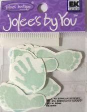 BLUE/GREEN HAND & FOOT PRINTS Embellishments(16pc)Jolee's•Baby •Newborn•Babies••