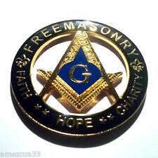 Freemasonry  Black And Gold  Master Mason Cut Out  High Quality Car Emblem