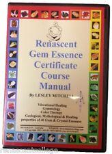 New GEM ESSENCE MANUAL Book on Disc Vibrational Healing, Elixers
