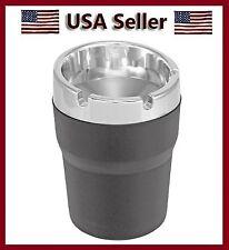 Black/Silver Car Portable Cigarette Smoking Ashtray Cup Holder Compact Ash Can s
