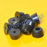 8pcs 40x22mm Round Rubber Feet With Metal For Tube Amp Radio Gear ATA Cabinet