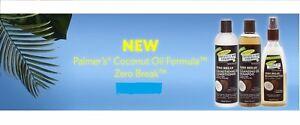 Palmer's Coconut Oil Zero Break,Shampoo,Conditioner and Reconstructor-Full Range