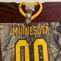 Minnesota Golden Gophers Football Jersey Mens Size Large Realtree Camo Red Gold