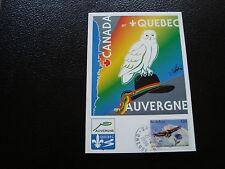 FRANCE - carte postale 1999 canada et quebec en auvergne(cy50) french