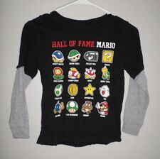 SUPER MARIO BROTHERS youth small T shirt Nintendo Hall Fame video-game Spiny tee