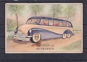 Alte AK mit Leporello von Antwerpen ungelaufen mit alten Ansichten LESEN