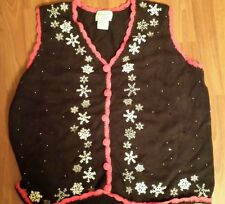 Women's Basic Editions Plus Holiday Ugly Christmas Sweater SZ 2X