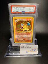 PSA 6 English Pokemon Card 1999 Base Charizard 4/102 EX-MT