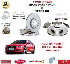 Für Audi A4 Avant 2.0 Tdi 170 Bhp Vorne & Hinten Bremsscheiben Beläge +