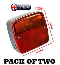2x REAR LENS VAN TRUCK LORRY CARAVAN TRAILER RECOVERY 4 FUNCTION TAIL LIGHT BULB