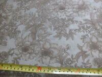 "108"" X 108"" Quilt Fabric Backing Floral Bouquet Tonal Blender Light Brown Tan"