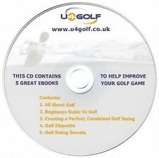 5 Great Golf eBooks to Improve Your Golf Game on CD - FREE Post & Packaging