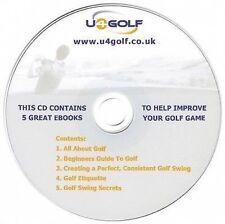 5 GRANDE GOLF ebook per migliorare la vostra GOLF GIOCO su CD-GRATIS POST & imballaggio