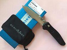 BENCHMADE Black G10 OSBORNE Serrated Edge S30V TANTO Folding Pocket Knife 940S-2