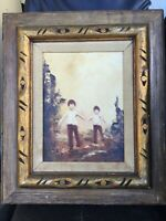 """1970 Vintage Oil Painting Signed By Artist - """"Lipscomb"""" - 9"""" x 12"""" (Framed 17"""" x"""