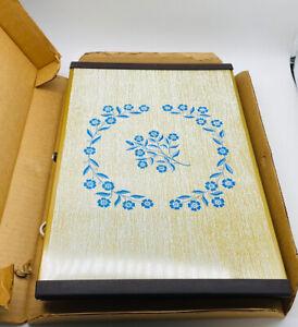 Vintage Corelle Corning Ware CornFlower Blue Party Hostess Warm O Tray