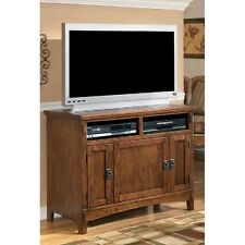 Oak Veneer Finish TV Stand Ashley #W319 18 Casual Living Room Wooden  Furnituire