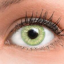 GLAMLENS Lenti a contatto colorate verdi Light Green - mensili - con porta le...