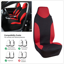 Cool Youth Sports Style Front 2 Seats Covers Red + Black Car Accessories Pad 2Pc
