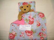 DOLL blanket cot pram BEDDING pillow FLEECE teddy Cath Kidston