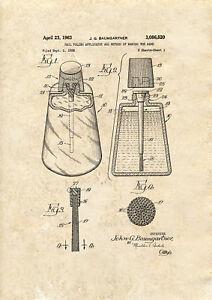Nail Polish applicator Patent art print 1963  A4 / A5 historic wall art