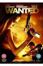 WANTED James McAvoy*Angelina Jolie*Morgan Freeman Epic Fantasy Action DVD *EXC*