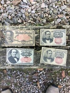 Lot of Fractional Currency US bills no reserve