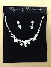 Elegance by Carbonneau Silver Necklace & Earrings Set, 6858