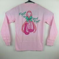 Anna Grace T-Shirt Long Sleeve Comfort Colors Tee Cancer Good Fight Color Pink